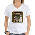 Cinderella & Godmother Women's V-Neck T-Shirt
