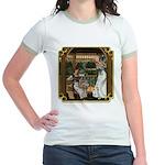 Cinderella & Godmother Jr. Ringer T-Shirt