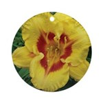 Fooled Me Daylily Ornament (Round)