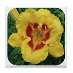 Fooled Me Daylily Tile Coaster