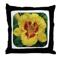Fooled Me Daylily Throw Pillow