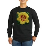 Fooled Me Daylily Long Sleeve Dark T-Shirt