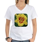 Fooled Me Daylily Women's V-Neck T-Shirt