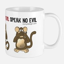 Hear no evil, see no evil.. Small Small Mug