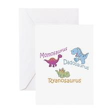 Mom, Dad & Ryanosaurus Greeting Card