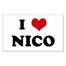 I Love NICO Rectangle Decal