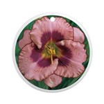 Daring Deception Daylily Ornament (Round)