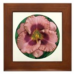 Daring Deception Daylily Framed Tile
