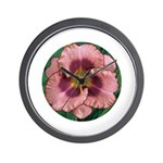 Daring Deception Daylily Wall Clock