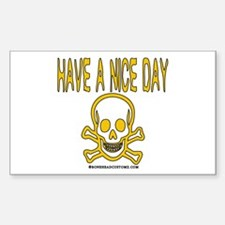 Have a Nice Day Rectangle Decal
