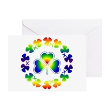 Clover Irish Rainbow Greeting Card