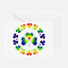 Clover Irish Rainbow Greeting Card
