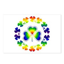 Clover Irish Rainbow Postcards (Package of 8)