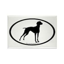 Vizsla Dog Oval Rectangle Magnet