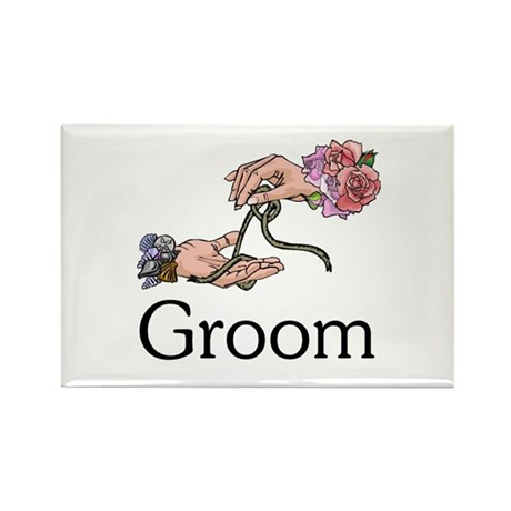 Handfasting Groom Rectangle Magnet (100 pack)