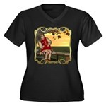 Little Miss Muffet Women's Plus Size V-Neck Dark T