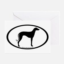 Sloughi Dog Oval Greeting Card