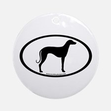 Sloughi Dog Oval Ornament (Round)
