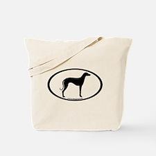 Sloughi Dog Oval Tote Bag