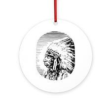 Native American Art #0022 Ornament (Round)