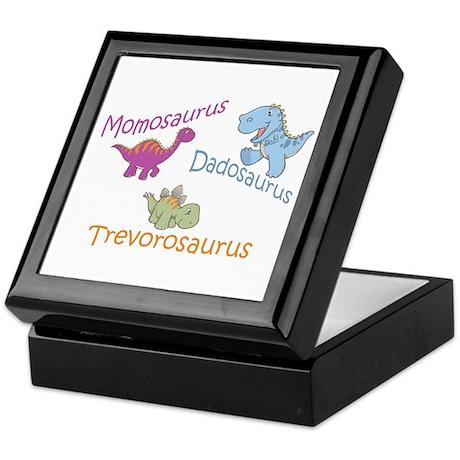 Mom, Dad & Trevorosaurus Keepsake Box