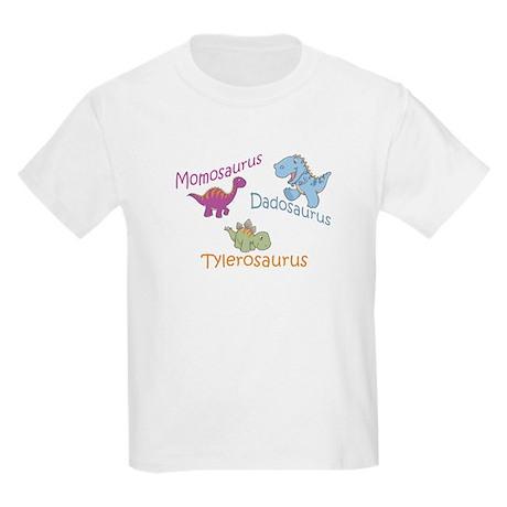 Mom, Dad & Tylerosaurus Kids Light T-Shirt