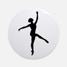 Ballerina Ornament (Round)