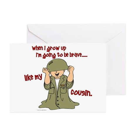 Brave Like My Cousin 1 Greeting Cards (Pk of 10)