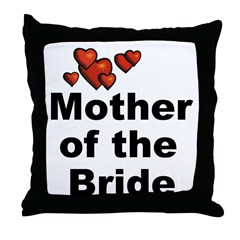 Hearts Mother of the Bride Throw Pillow