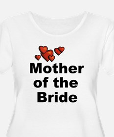 Hearts Mother of the Bride T-Shirt