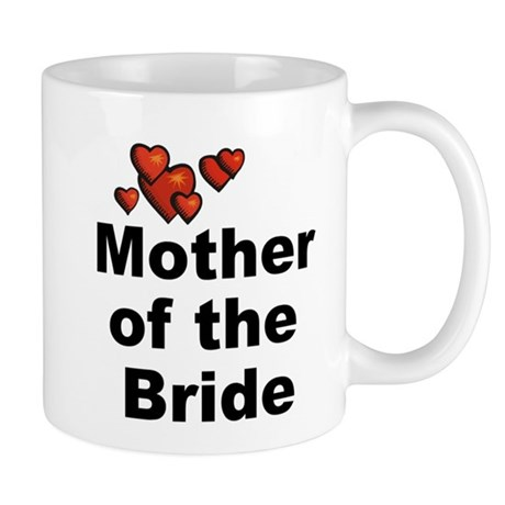 Hearts Mother of the Bride Mug