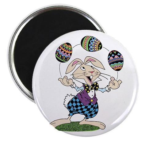 Juggler Easter Bunny Magnet