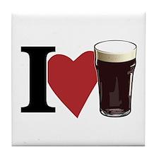 I Love Beer v3 Tile Coaster