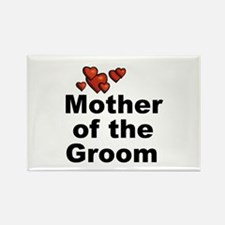 Hearts Mother of the Groom Rectangle Magnet