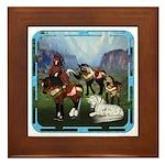 All the Pretty Little Horses Framed Tile