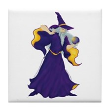 Merlin the Wizard Picture Tile Coaster