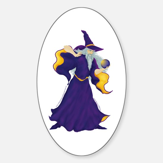 Merlin the Wizard Picture Oval Decal