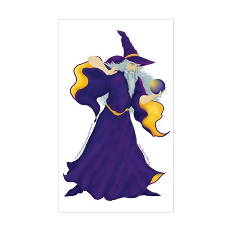 Merlin the Wizard Picture Rectangle Sticker