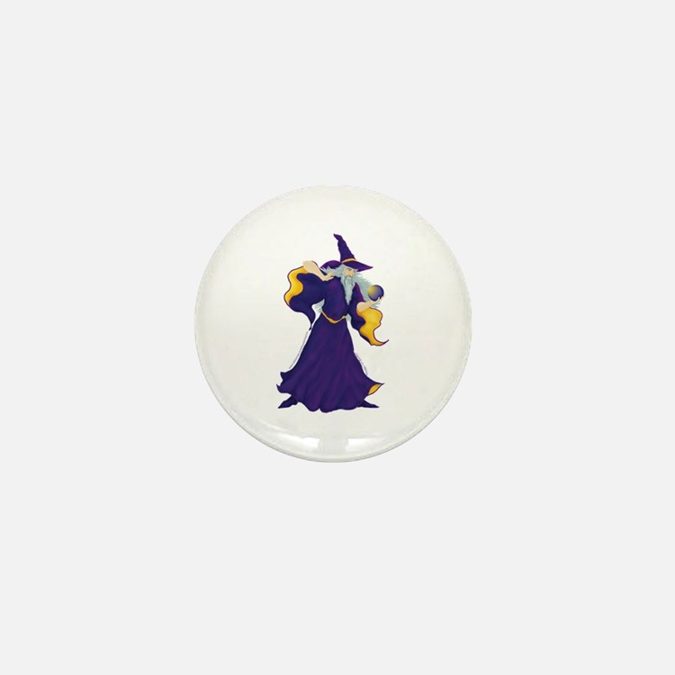 Merlin the Wizard Picture Mini Button