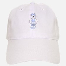 BLUE BALLERINA BEAR Baseball Baseball Cap