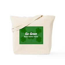 Go Green Shamrocks Tote Bag