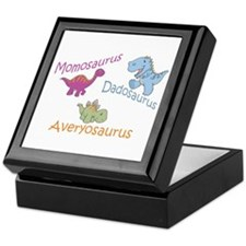 Mom, Dad & Averyosaurus Keepsake Box