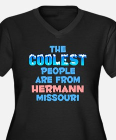 Coolest: Hermann, MO Women's Plus Size V-Neck Dark