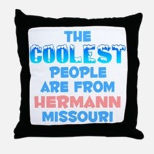 Coolest: Hermann, MO Throw Pillow