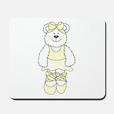 YELLOW BALLERINA BEAR Mousepad