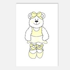 YELLOW BALLERINA BEAR Postcards (Package of 8)