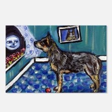 Australian Cattle Dog sees mo Postcards (Package o