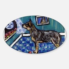 Australian Cattle Dog sees mo Oval Decal