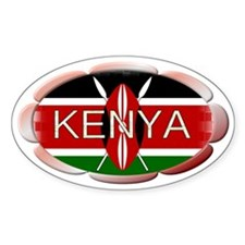 Kenya - Oval Decal