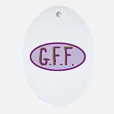 GFF- Gluten Free Forever! Oval Ornament